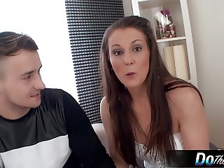 White wife interracial cream pie