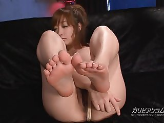Asian girl Bukkake cum facials and sex toy