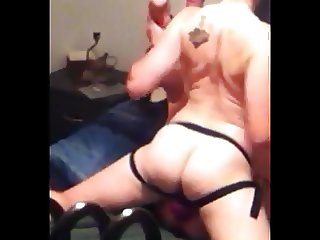 Gaping his pussy with 10 inches