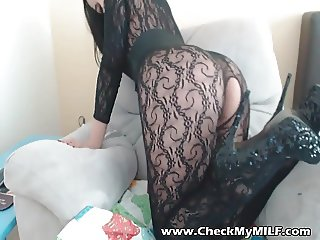 Check My MILF in crotchless bodystockings teasing