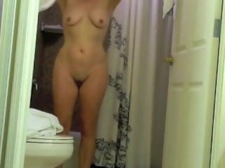Mature wife after shower