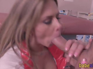 Busty Nurse Fucked In Pussy On Exam Table