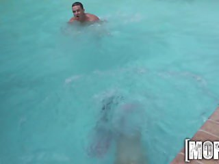 Mofos - Cock sucking by the pool