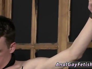 Bizarre gay japanese bondage boy With his soft balls tugged and his