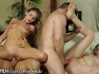 Teen Babes Facialed at Swingers Orgy