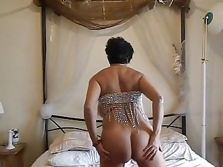 mature with big boobs stufing panties for me