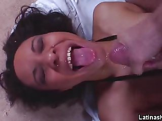 Phat Ass Latina Jizzed After Sex