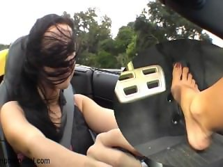 Largo Florida woman hits the gas pedal hard in her Corvette for my camera