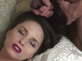 Thick, Creamy Cum In Sexy Long Hair On Sofa