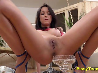 Perfect Tits Teen Babe Francys Pisses Around