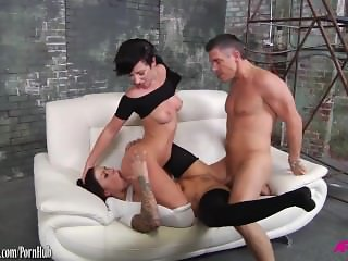 Jada Stevens threeway sharing cum with Karma Karmen