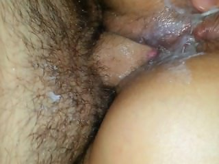 Hubby gets surprise... neighbors cum all over his cock!