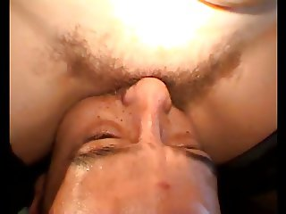 Hairy, very wet, pussy linking extreme