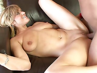 Busty blonde santa bitch rides cock like a pro