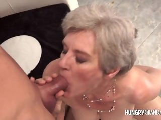 Chic grandma takes massive dick