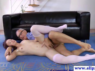 Redhead brit cockriding after pussyrubbing