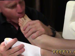 Young gay twink toe sucked rimmed fisted then fucked Daddy Dev Worships