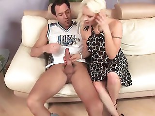 Blonde milf cougar fucks youger guy