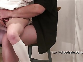 The young slut gets fingered and fucked by an old man
