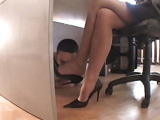 Office foot worship 1
