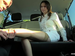 FuckedInTraffic - Slutty bitch Meggie Marika getting rammed on the backseat