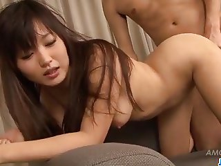 Ryo Asaka throats and fucks like a goddess