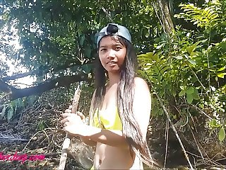 Heather deep get naked deepthroat and creampie in the jungle