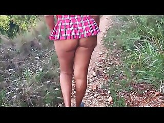 Short Skirt No panties