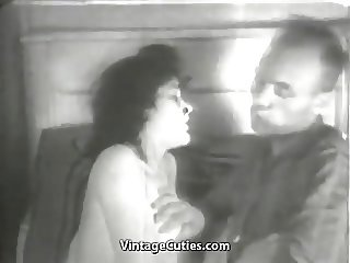 Husband on His Wakeup Wife Fucking Routine (1940s Vintage)