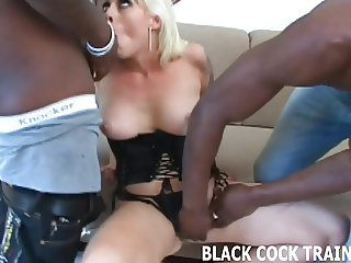 His big black cock is going right up my ass