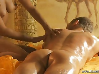 Using a Hot Oil For Your Huge Cock