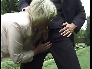 Mature secretary and her younger boss play during luch hour!