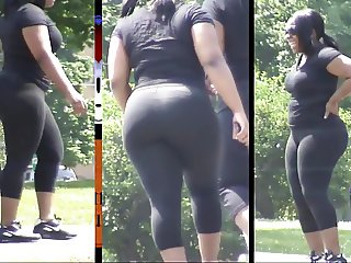 Ebony Booty Around The Park