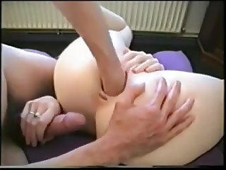 Young couple fisting