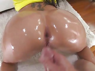 Asian ass fucked by huge dick with milf London Keyes