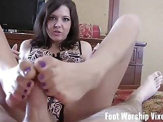 Stroke your cock to my size 10 feet JOI
