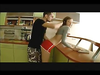 Slim Russian Fucked in the Kitchen