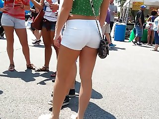 Whooty Booty White Shorts