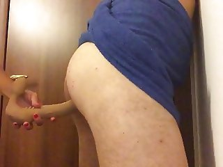 Two dildo in ass