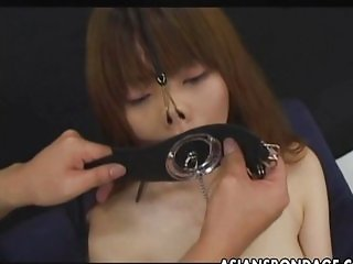 Japanese sucks with a Large Open Mouth Gag
