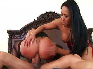 Asian MILFs threesome - Kitty and Ava