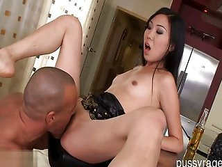 Beautiful pussy loves huge dick