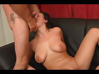 Sexy pierced french emo girl Kim - gangbang and dp