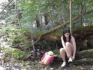 Leeds student nude in some Yorkshire wood 1a