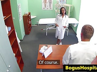 Euro medical student jizzed on by real doctor