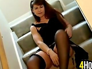 Cougar Does A Striptease