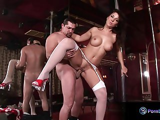 Glamour babe Maria Belucci fucking on stage