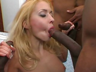 Black gangbang with Julie