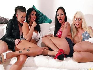 Group Fuck With Christy Raven Rikki Romi