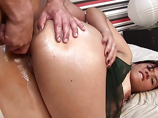 Santa Latina - Hardcore ass fuck with Colombian brunette